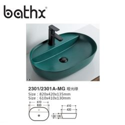 Ciotola artistica del bacino di vendita di disegno della mano speciale calda della lavata per il Lavabo di ceramica della stanza da bagno di /Hotel del giardino