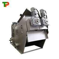 Multi Plate schroef Press Slidge Dewatering machine voor Textile Farm Industrie afvalwaterzuivering