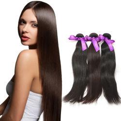 Tessuto diritto umano 100% dei capelli dell'onda di acqua del Virgin naturale brasiliano indiano peruviano riccio lungo poco costoso all'ingrosso di Remy