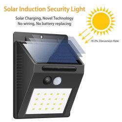 Высокое качество 20 светодиод для поверхностного монтажа сад водонепроницаемый фонарь освещения на открытом воздухе датчик движения солнечного света для оказания чрезвычайной