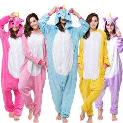 Pijama de franela de terciopelo Kigurumi Pegasus Kigurumi Onesies Traje de dibujos animados