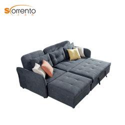 居間の家具のためのリネンラウンジのソファ小さく安いLoveseat Sofabed