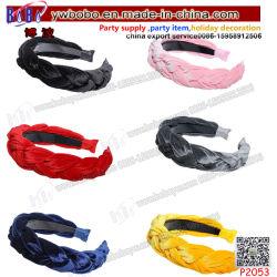 Juguetes para adultos de la moda de la mujer diadema de terciopelo Hairband Twist nudo amarrar el cabello trenzado Accesorios (P2053)