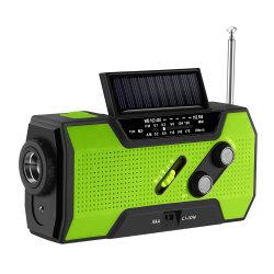 راديو التدوير اليدوي للراديو الطقس NOAA راديو الطوارئ يدوي يعمل بالطاقة الشمسية مصباح كهربائي بقدرة 3AAA ذاتي التشغيل لمصباح طاقة 2000 مللي أمبير/ساعة