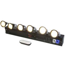 6 مصابيح LED لاسلكية تعمل ببطاريات بيضاء وarmwhite تعمل بنظام التشغيل عن بُعد من المرحلة اللاسلكية ضوء لحفلة الزفاف