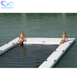 Verwijderbaar Opblaasbaar Jacht die de Oceaan Overzeese Grote Opblaasbare Pool van het Zwembad voor de Boot van het Jacht drijven