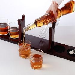 Vidro artesanais 800ml Ak 47 Formato de pistola de Whiskey Vinho Garrafa Decantador de definir com o CUPS