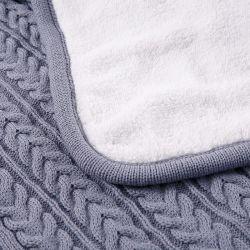 2 strati del Knit del cavo con la coperta del bambino del rivestimento di Sherpa del Faux