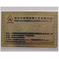 La placa de metal personalizados Nombre de la empresa tarjeta con el nombre de la empresa Logo