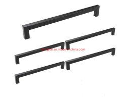 Черный квадратный брус кабинета потяните ручку ящика цинк сплав Custom для мебели шкаф ручки аппаратного обеспечения