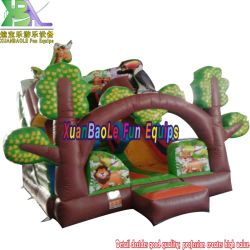Goedkope Mini Jungle opblaasbare Bouncy Slide, Zoo opblaasbare Animal Slide for Kids