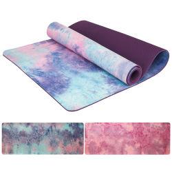 De antislip van de Micro- van de Geschiktheid van de Gymnastiek van het Huis van 6mm Mat Yoga van het Suède TPE