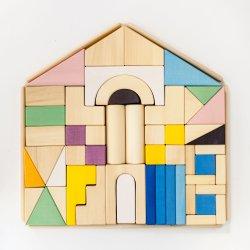 خشبيّة بناية قالب لعبة طبيعيّ [إك] ودّيّة خشبيّة بناية قالب يثبت لأنّ أطفال جديات بناء تربويّ آمنة
