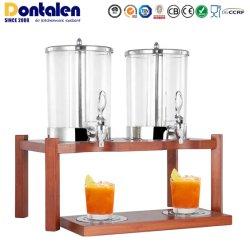 Dontalen Luxe Double verre de jus de restauration de l'eau de boisson Ustensiles de cuisine de l'équipement contenant en verre plastique appareil Food Processor distributeur de la machine