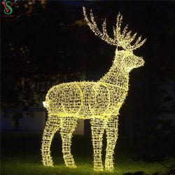 Grande piscina decorações de Natal Comercial 3D Renas Luzes Motif