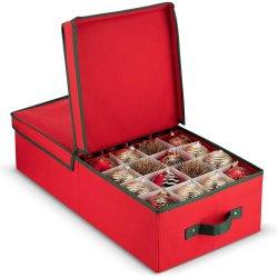 쉬운 회의 완벽한 크리스마스 훈장 포도 수확 장신구 분할 저장 상자