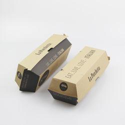 Durable resistente a la humedad natural de la celosía de doble bandeja Kraft Caja de papel