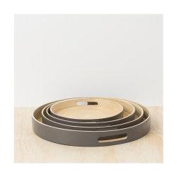 タケ皿新しいデザイン台所サービングの版の円形のタケ皿