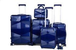 Het vijf-Stuk van de Bagage van de reis Duurzame ABS + Reeks van de Bagage van het Karretje van PC de Eenvoudige