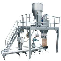 A máquina para embalar os grãos