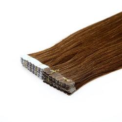 """Capelli di stile caldo per il salone 8""""-30"""" Straight Skin trama Double Nastro adesivo in Remy 100% brasiliano indiano Malaysia capelli umani Estensioni"""