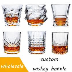 Tazza di vetro del whisky di cristallo classico di cristalleria per la casa/hotel/barra