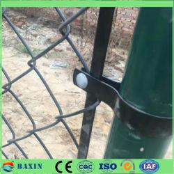 다크 그린 PE PVC 코팅 갈바니화 체인 링크 펜스