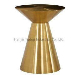 Tavolino da caffè moderno in acciaio inox placcato oro titanio
