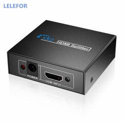 جهاز تقسيم HDMI 1 في 2 فيديو عالي الوضوح بدقة 1080p مع جهاز تدعم الشاشة نفسها إخراج HDMI 1 في 2 ثلاثي الأبعاد