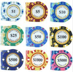 Crown Pattern 14G chip di Poker Clay per il gioco di casinò Con adesivo in lamina d'oro