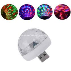 디스코가 LED 단계 빛 당 소리 통제 소형 효력 USB 공 DJ를 위한 LED 작은 마술 공에 의하여 점화한다
