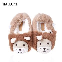 L'hiver Chambre de commerce de gros de fourrure douce Cartoon animal en peluche à l'intérieur de pantoufles pour les enfants