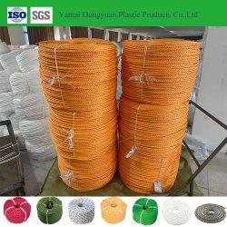 Corda di plastica della cordicella tessuta pp personalizzata fornitore per l'agricoltura marina