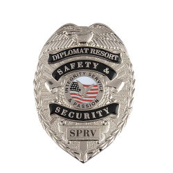 Custom Loja Detective Metal auditor de segurança da Delegacia de Polícia Militar Capelão do esmalte Pin de lapela Badge