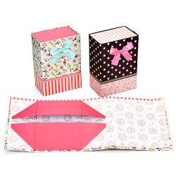 Kundenspezifischer Packpapier-Kasten gewölbtes Packagingbox, das ohne Firmenzeichen für Tuch verpackt