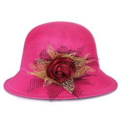 Le linge de maison d'été Mesdames fashion Top Hat chapeau avec fleur