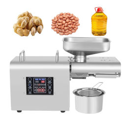 Expeller تلقائي صغير الحجم Expالجرار Home Use Mini Oil Press Machine for Sesame, Peanut, Sunflower
