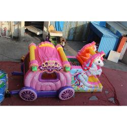Glückliches Hopfenpreiswerter aufblasbarer Prahler-Kind-Karikatur-Schlag und Plättchen, federnd Schloss, aufblasbares kombiniertes aufblasbares Spielzeug