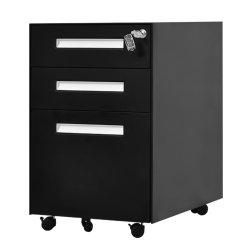 Armazenamento de aço móveis armário de arquivos vertical preta do mobiliário de escritório com gaveta