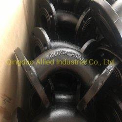 En545 ISO2531 관 이음쇠 티 굴곡 온화한 플랜지 표면 검정 아스팔트 페인트