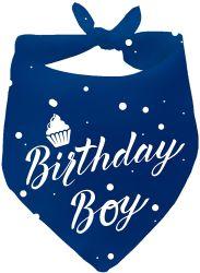 Горячая продажа пользовательские моды хлопка Печать голубой День Рождения трехстороннего Bandana для ПЭТ собак мальчиков