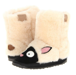 Doos Animal Sheep Skin zachte wol 100% Pure Sheep wol Slippers Kids House Fur Schoenen Laarzen