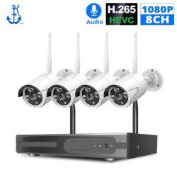 8CH Wireless Kit de NVR P2P 1080P Audio Home Calle impermeable de seguridad CCTV Videovigilancia IP WiFi Kit de sistema de cámara