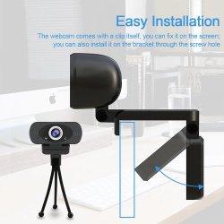 Cámara Full HD 720p de la cámara portátil USB 2.0 de la grabación de vídeo 30fps Webcamera con micrófono para PC