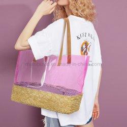 Top Fashion sac tissé Candy Couleur de la plage d'été à l'épaule Hobo Voyage Sac de paille