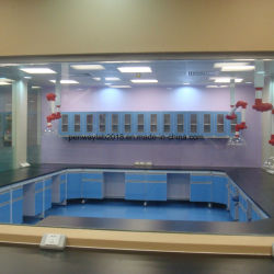 La escuela mobiliario laboratorio de acero y madera banqueta Laboratorio Tabla Lab