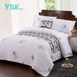 Отель постельное белье белого цвета 100% хлопок Sateen установлена кровать в мастерской