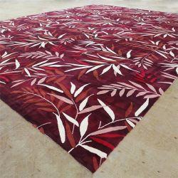 Shanweiシンシアの製造業者のカーペット深紅色のタケデザイン敷物部屋