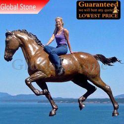Bronzetiergarten-Skulptur-lebensgrosse laufende Pferden-Statue (GSBR-900)