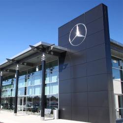 ABS gravierte Acrylauto-Firmenzeichen-Zeichen für Auto-Ausstellungsraum/Zoll-Laser galvanisiertes Chrom überzogenes Firmenzeichen-Zeichen des Auto-3D
